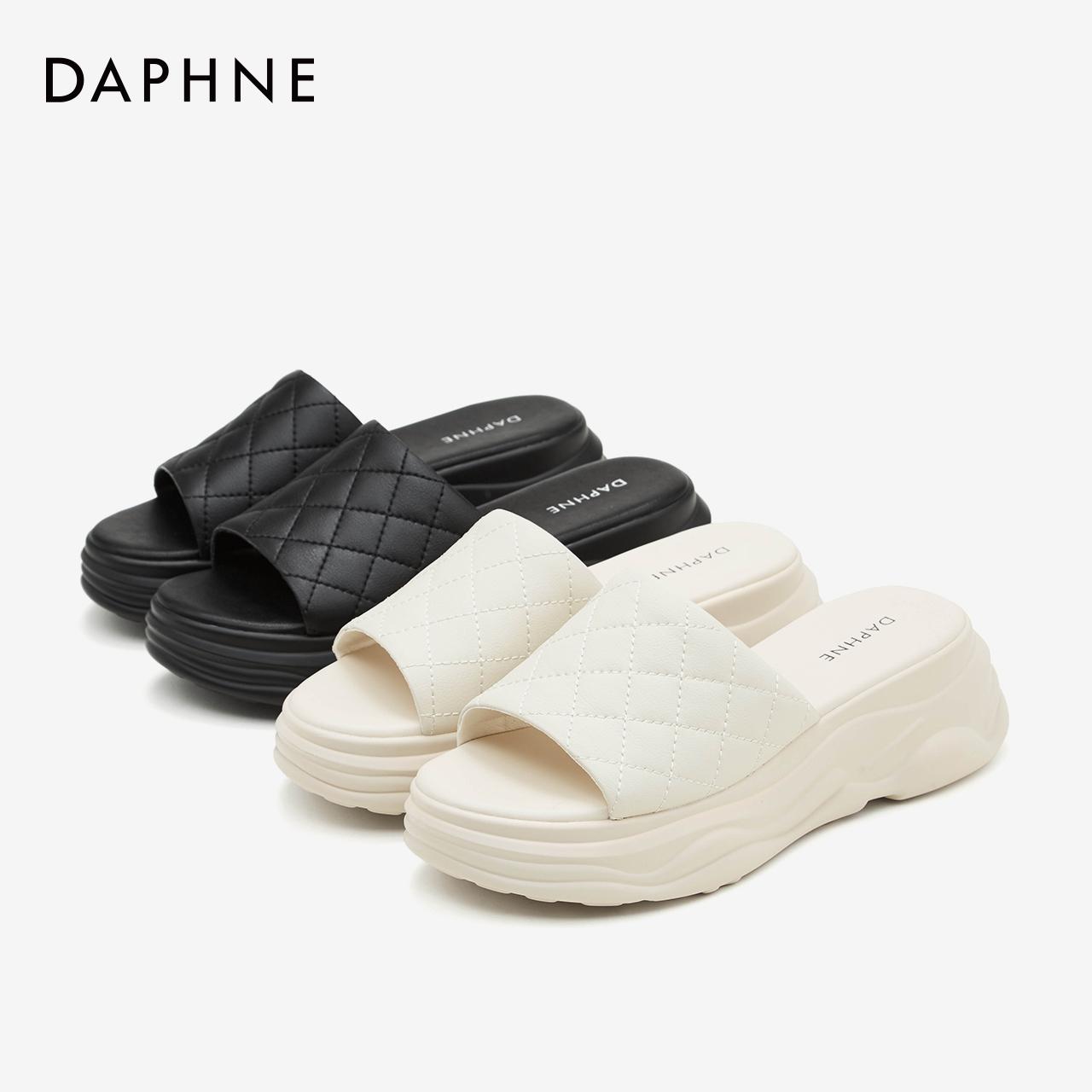 夏季新款女鞋时尚外穿外穿拖鞋 2020 达芙妮厚底拖鞋女 预售 618