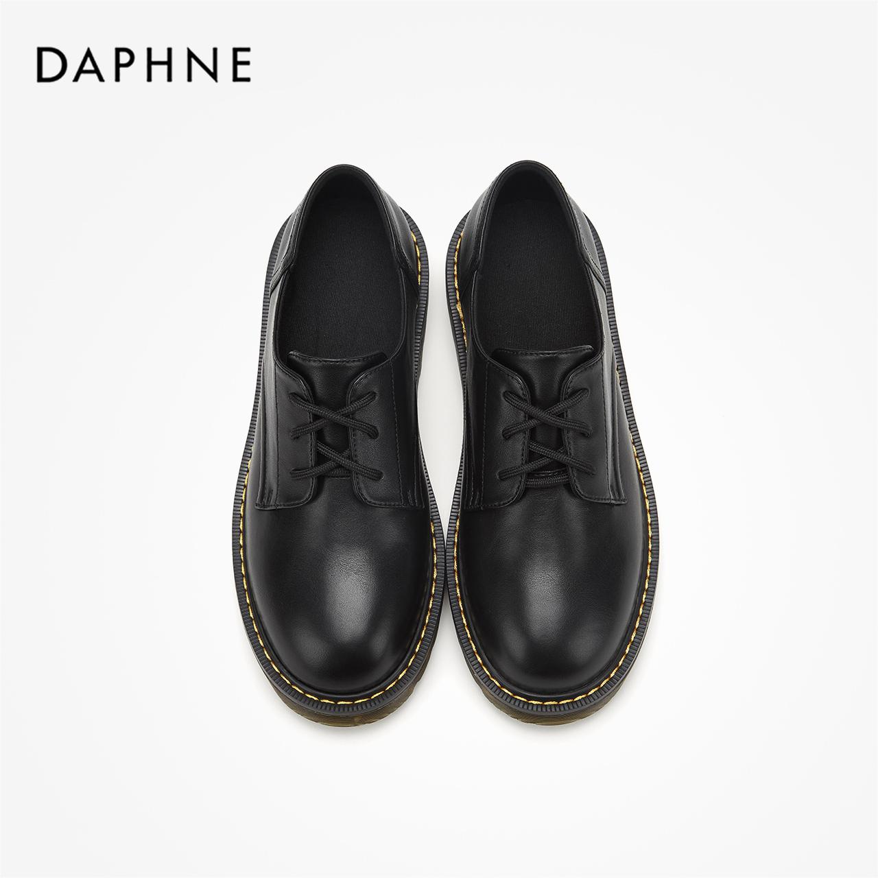 秋摩登通勤英伦沙漠靴圆头牛筋底休闲短靴 2019 达芙妮 Daphne