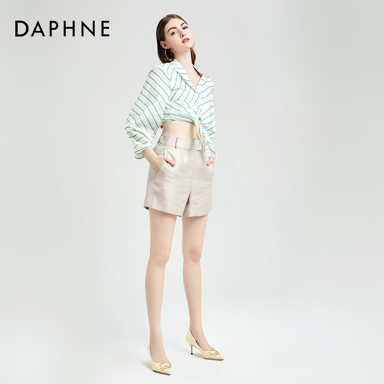 饰扣时尚浅口单鞋职场女鞋 e 春新品尖头高跟鞋 2020 达芙妮 Daphne