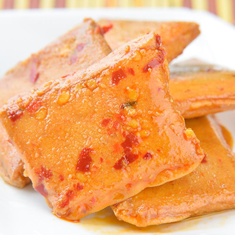 500g 明珠仙鲍味鱼豆腐豆干卤味鸡蛋干休闲特产原味零食小吃