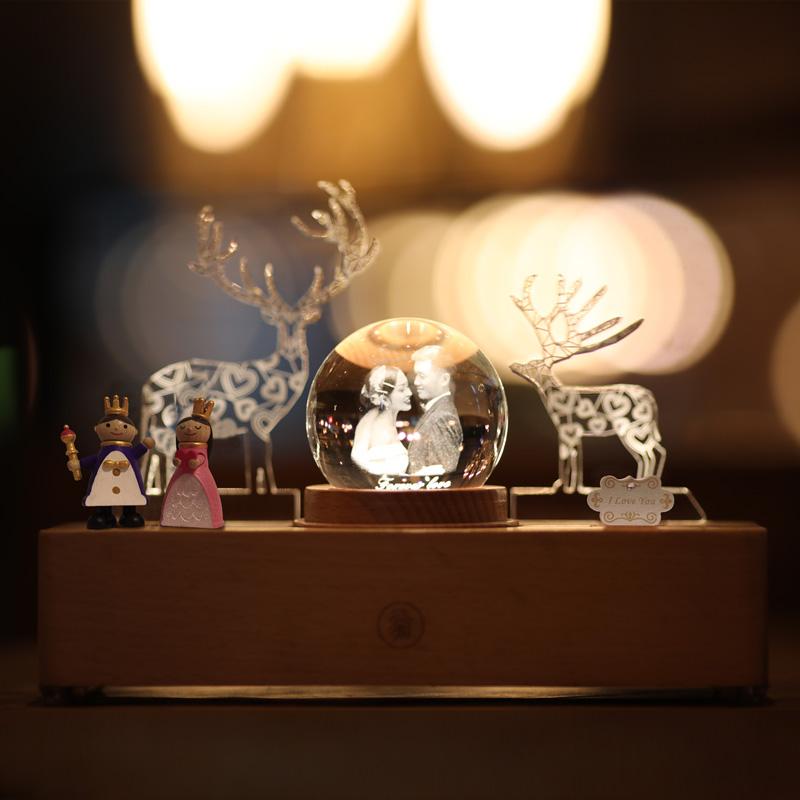 一鹿有你摆件结婚礼品新婚礼物送闺蜜新人水晶灯高档实用哥哥嫂子