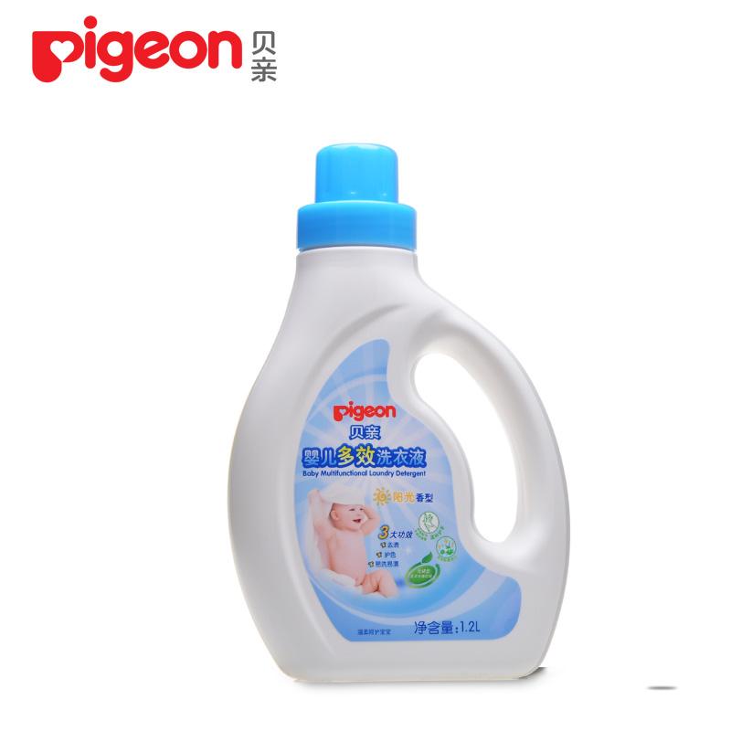 贝亲 婴儿多效洗衣液1200ml(阳光香型)宝宝衣物洗衣液 瓶装MA55
