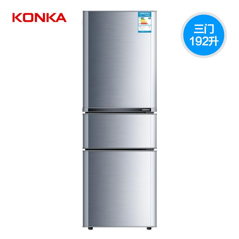三门家用节能冰箱三开门冷藏冷冻电冰箱联保 192MT BCD 康佳 KONKA