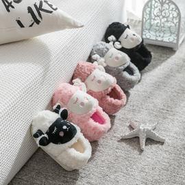 儿童棉拖鞋包跟秋冬季女童男宝宝1-3岁2卡通毛毛棉鞋室内家居亲子