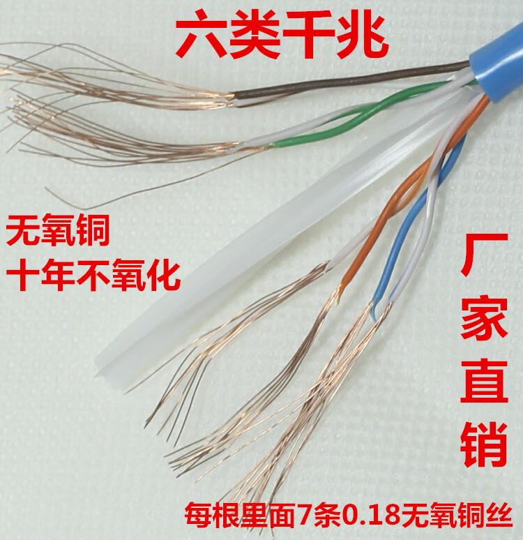 国标 千兆六类纯铜网线 0.20.3 0.51米1.53米5m机房网络跳线