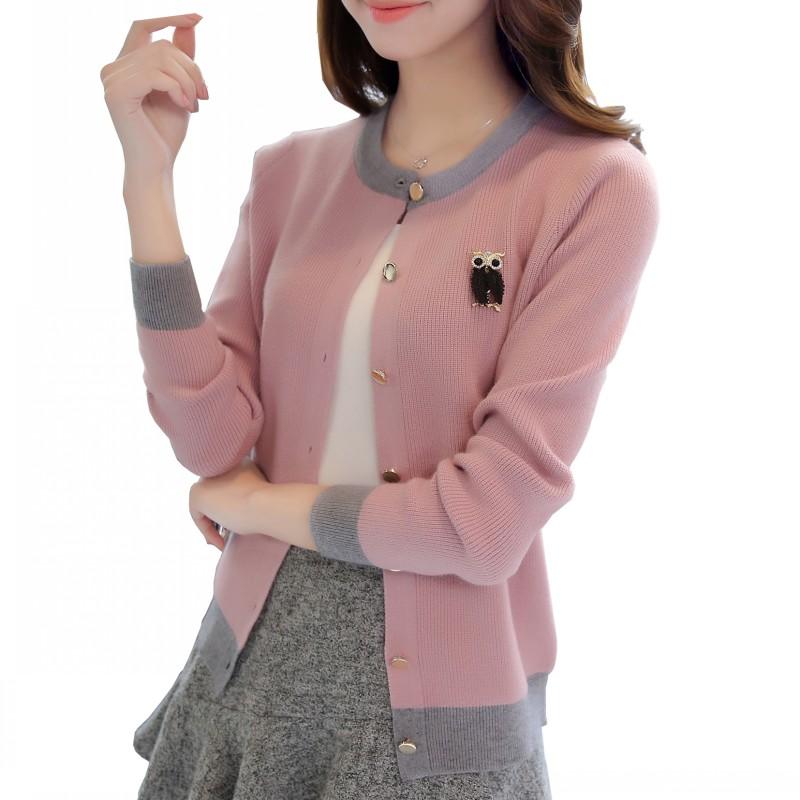 潮流制造,抖音同款,新款开衫外套毛衣女士外搭修身韩版