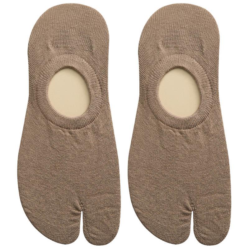 二趾袜女两指袜情侣男士船袜木屐拖鞋袜子夏季薄款浅口隐形五指袜