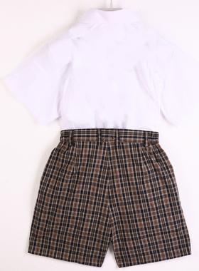 深圳市小学生校服 男女春夏装礼服短袖班服表演服套装美丽奥促销