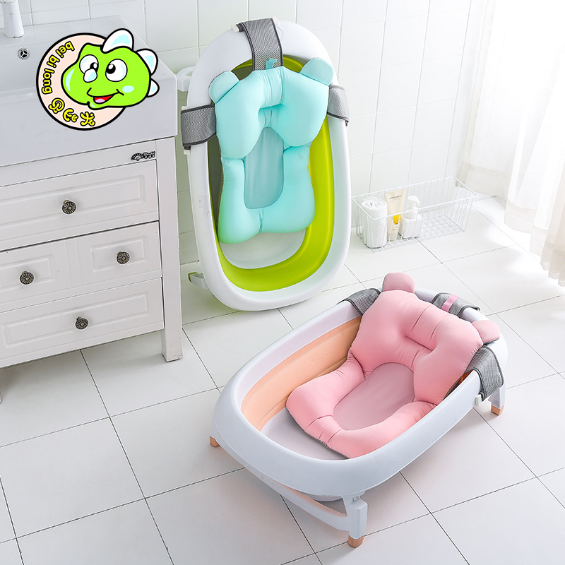 新品婴儿洗澡网通用防滑浴网宝宝可调节通用圆盆婴儿浴架洗澡浴垫