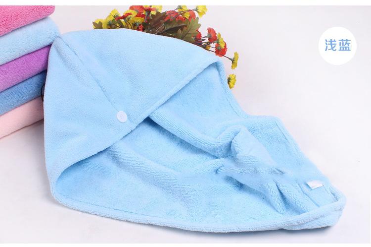 干发帽超强吸水成人可爱柔软包头巾浴帽毛巾送束发带套装