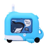 Familyout children suitcase board chassis suitcase baby can sit Keji box cartoon tow ride