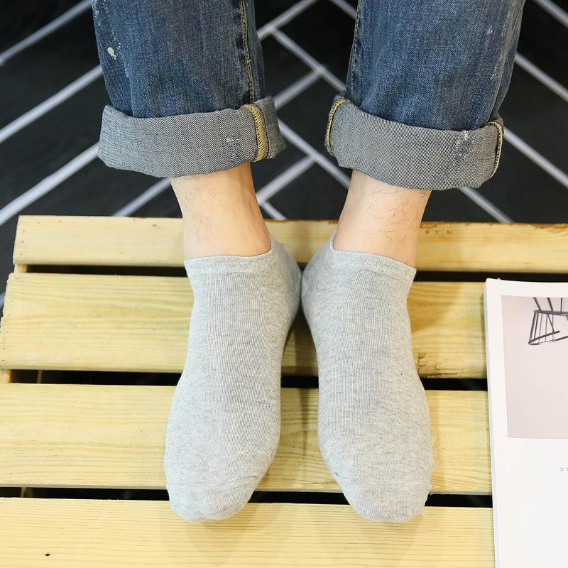 森马袜子男士纯色棉短袜夏季透气薄款船袜吸汗防臭浅口低帮运动潮