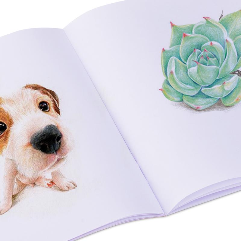得力空白图画本幼儿园儿童画画本a4美术绘画本小学生用涂鸦水彩画纸画册加厚画本1-3年级素描画册b5大号批发