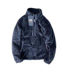 日本光电子防静电保暖羊羔绒 男士冬季宽松半拉链套头卫衣外套 潮