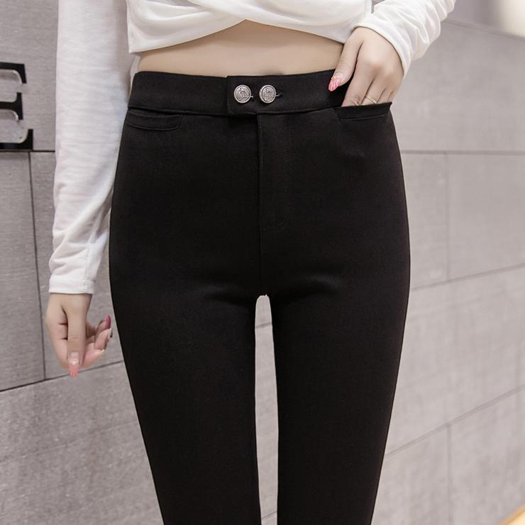 高端定制高档魔术裤2020新款春季薄款高腰打底裤女外穿加肥大码