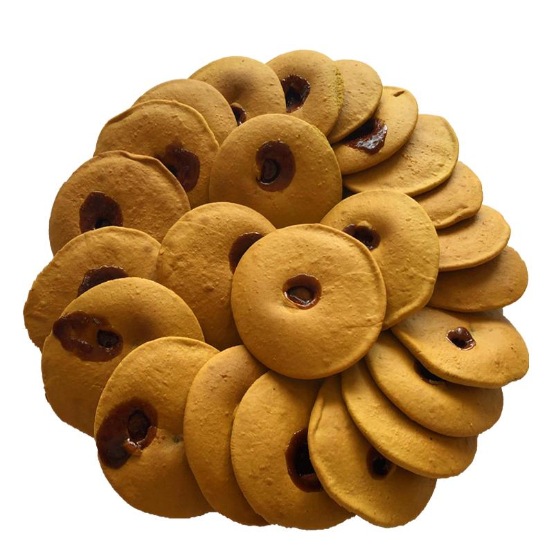 潮汕特产惠来小吃红糖肚脐饼手工双炉饼零食红糖酥饼网红代餐小吃