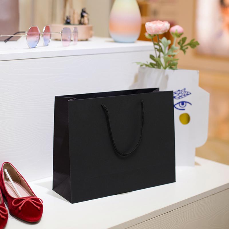 礼品袋粉色纸袋定制手提袋定做印LOGO简约生日礼物包装袋牛皮纸袋