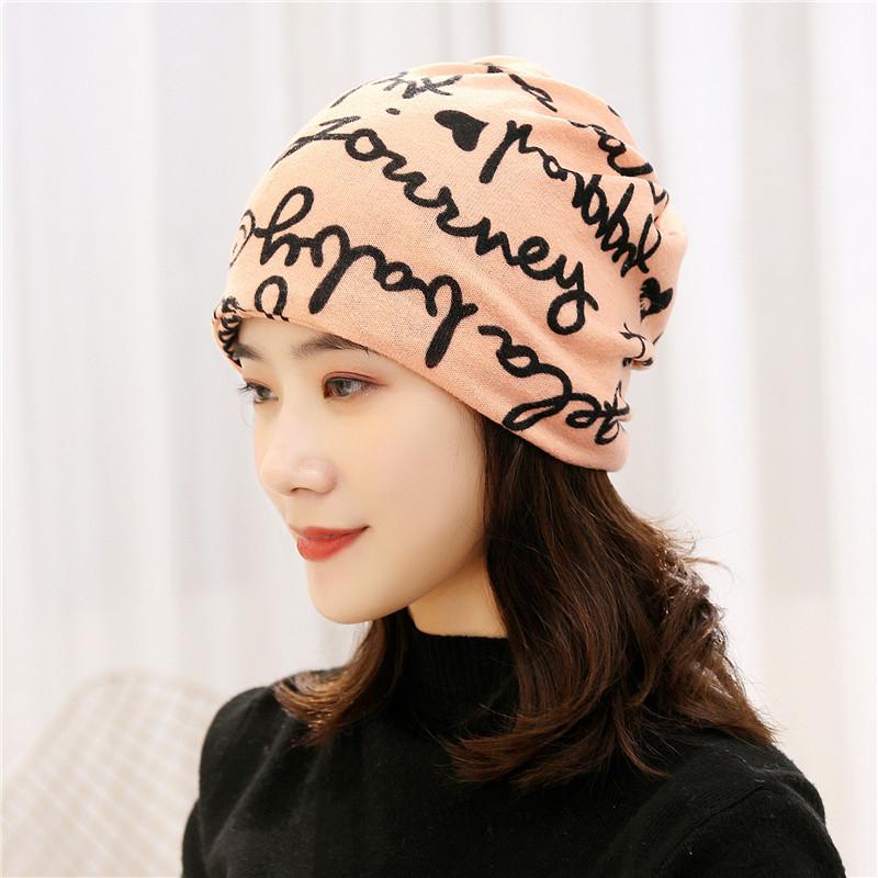 围脖女冬季韩版学生百搭薄款针织套头围巾护颈椎脖套面罩包头帽
