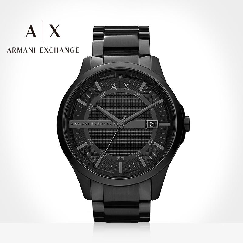 Armani阿玛尼手表男官方旗舰店正品黑武士欧美石英腕表礼物AX2104