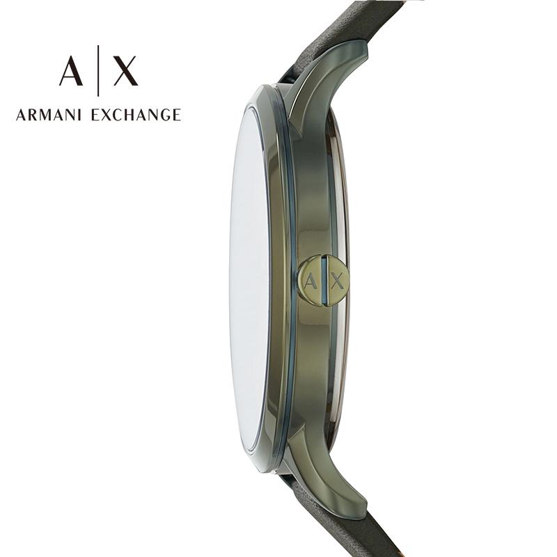 阿玛尼手表女Armani Exchange绿色皮带手表休闲石英手表女AX5608