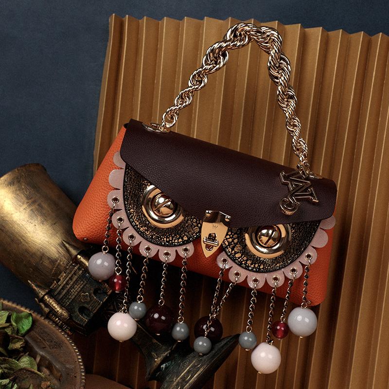 万蔻纯铜字母金属链条提手包带包配件万蔻原创设计师 WANACCESSORY