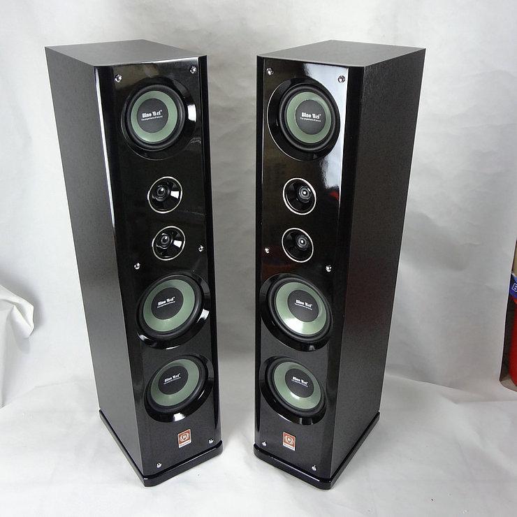 豪華落地木質音箱家庭影院音響無源重低音箱hifi發燒雙8寸三分頻