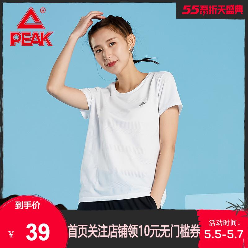 匹克运动T恤女2020春季新款圆领短T时尚潮流短袖上衣宽松休闲服R