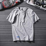 hvelay summer Hong Kong style short-sleeved t-shirt men's tide brand trend couple cotton t-shirt men's loose white half-sleeved