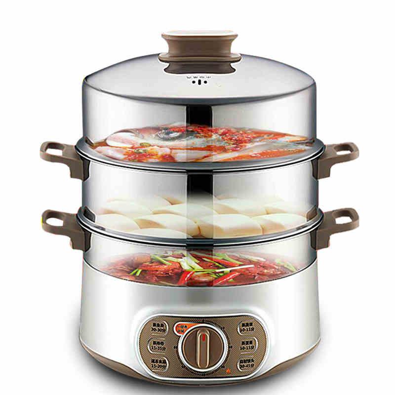 苏泊尔电蒸锅多功能家用厨房大容量双层海鲜蒸菜蒸笼汽锅