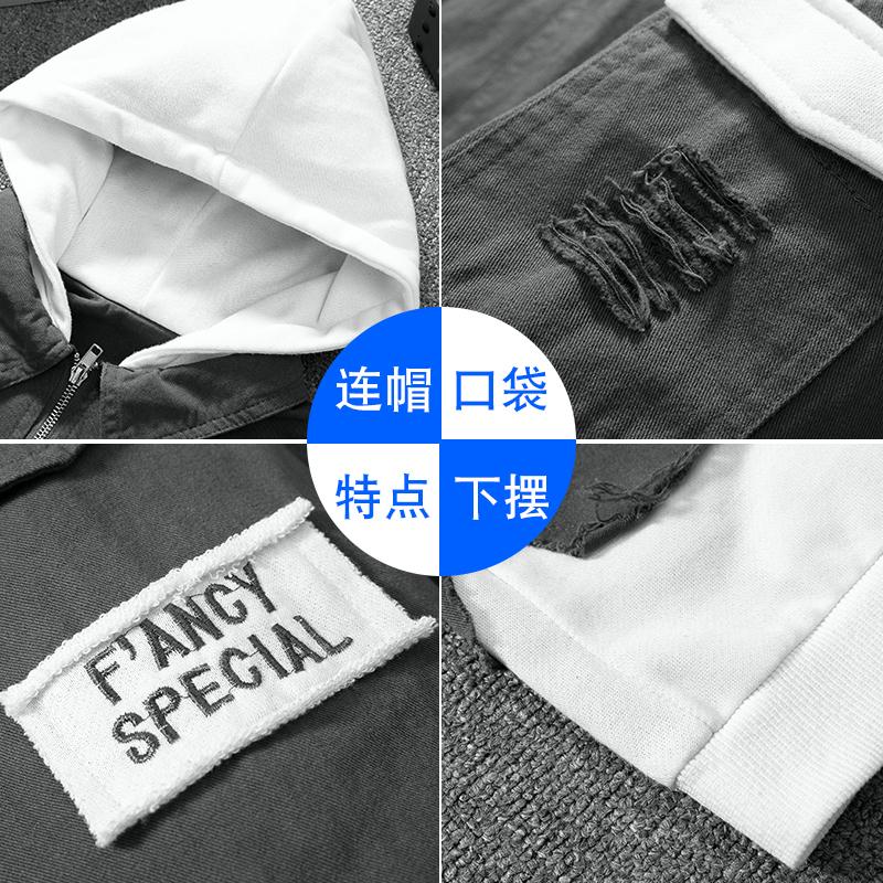 港风牛仔外套男士2018新款流行韩版修身春秋季夹克学生宽松褂子潮