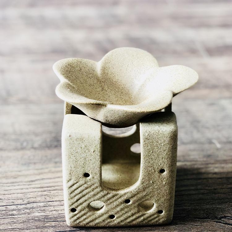 泰國進口手工陶瓷異形雞蛋花香薰爐精油爐家用臥室薰香貝葉工坊