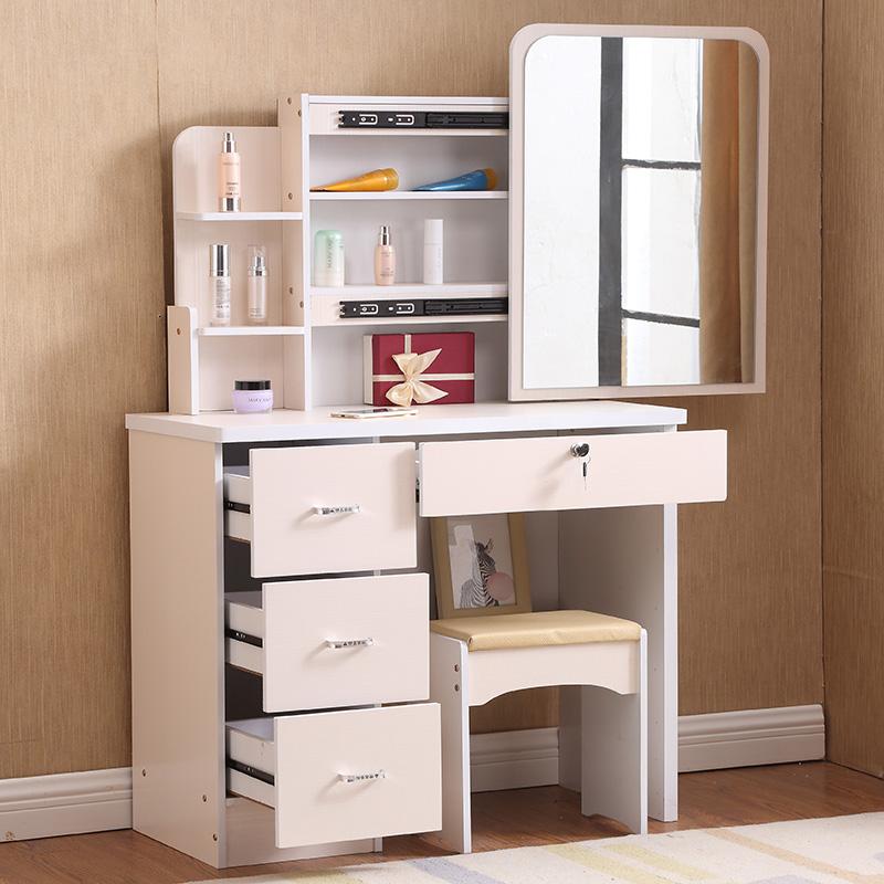 梳妆台卧室小户型化妆台简约现代欧式化妆桌迷你储物柜收纳柜