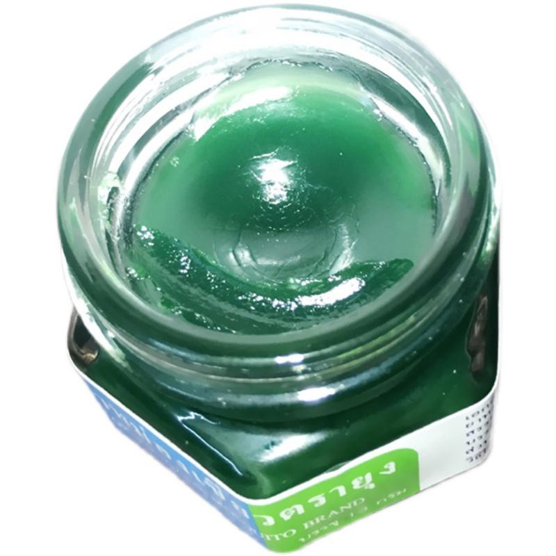 泰国绿药膏青草膏清凉油提神醒脑大人小孩防蚊驱蚊虫叮咬止痒蚊子