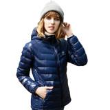 TECTOP / Tan Tuo anti-season autumn and winter light down jacket female hooded white duck down casual portable short coat