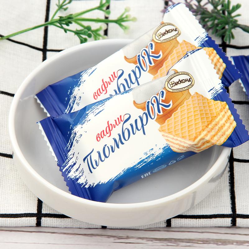 俄罗斯威化饼干进口阿孔特牌菲利莫小农庄冰淇淋巧克力休闲零食品
