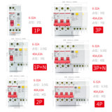 Delixi air switch with leakage protector DZ47sLE circuit breaker 63 household leakage protection 2P32A401P + N