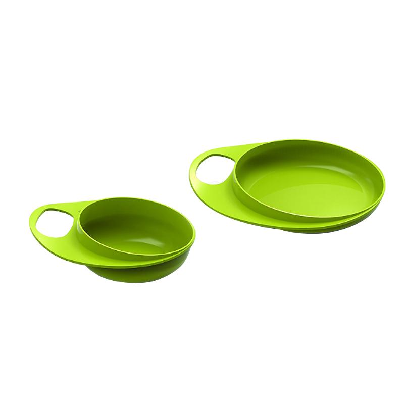 意大利nuvita儿童餐具碗勺套装婴儿宝宝碗辅食餐盘防摔训练学吃饭