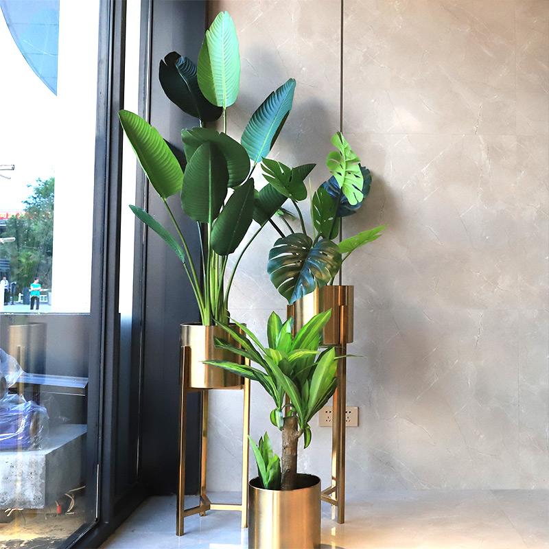 ins风装饰仿真植物旅人蕉网红绿植龟背竹客厅北欧仿真绿植假盆栽