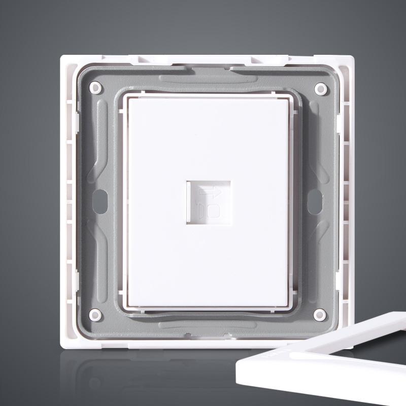 正泰电工 NEW7L安全钢架开关插座 钢架电脑插座 网线接口