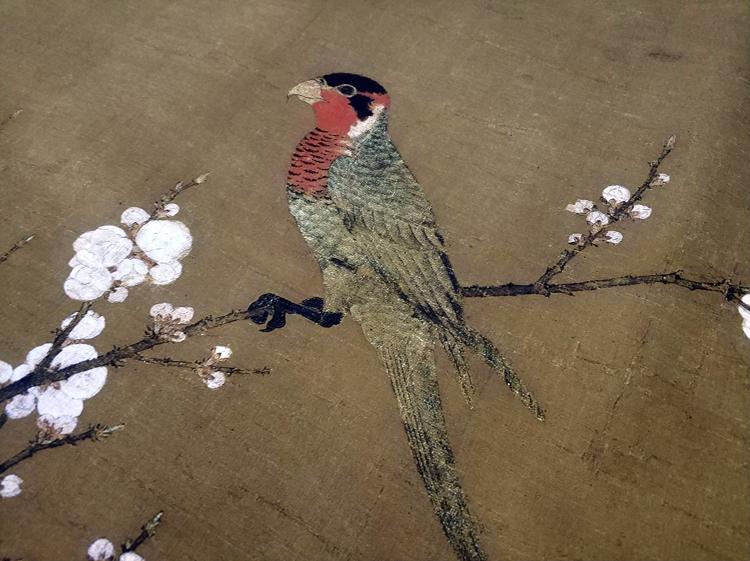 1:1宋徽宗赵佶五色鹦鹉图古代名画复制品艺术微喷装饰画工笔国画