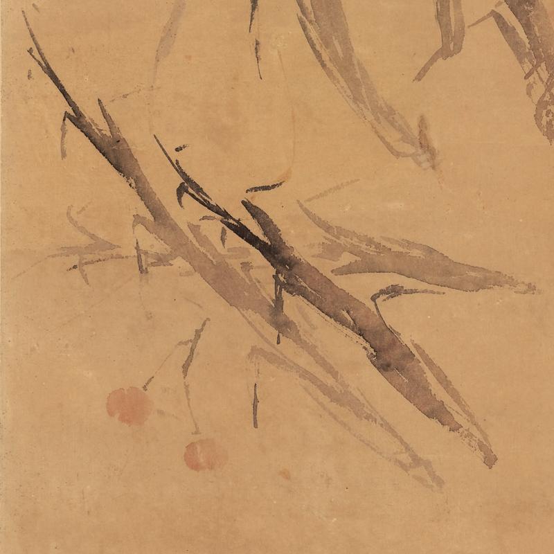 高剑父林荫桥影34X105仿古画名画真迹复制花鸟画装裱挂轴书房画