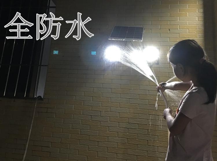超亮庭院灯太阳能一拖二遥控灯太阳能户外防水路灯新农村太阳能灯