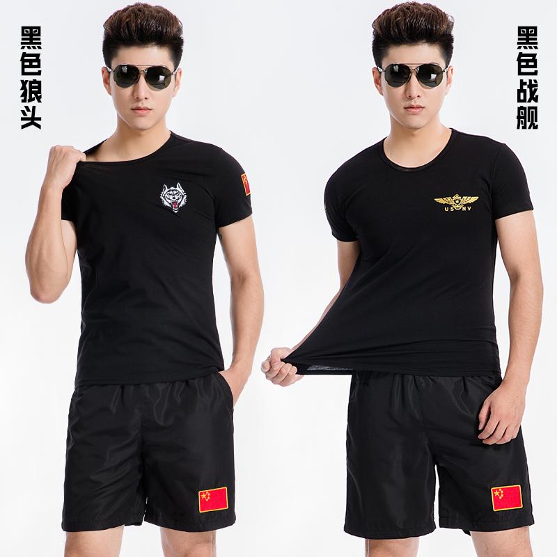 夏季军装刺绣中国男士迷彩短袖男军人战友聚会半袖t恤特种兵衣服高清大图