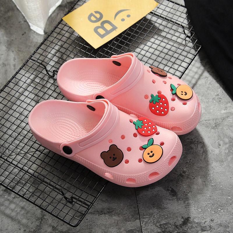 洞洞鞋女夏外穿ins可爱少女心包头沙滩凉拖女网红家用防滑凉拖鞋