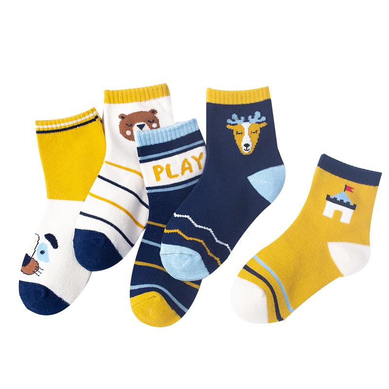 儿童袜子纯棉春秋冬季春秋薄款男童女童中大男孩中筒婴儿宝宝棉袜