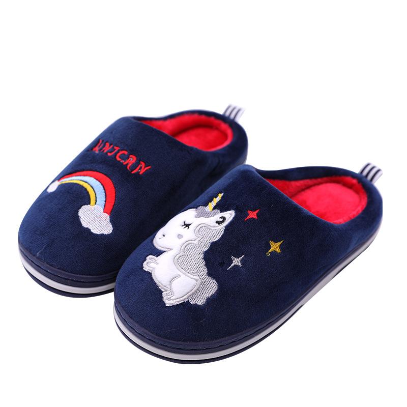 秋冬儿童棉拖鞋室内可爱家用冬季家居亲子小男孩宝宝女童男童棉鞋