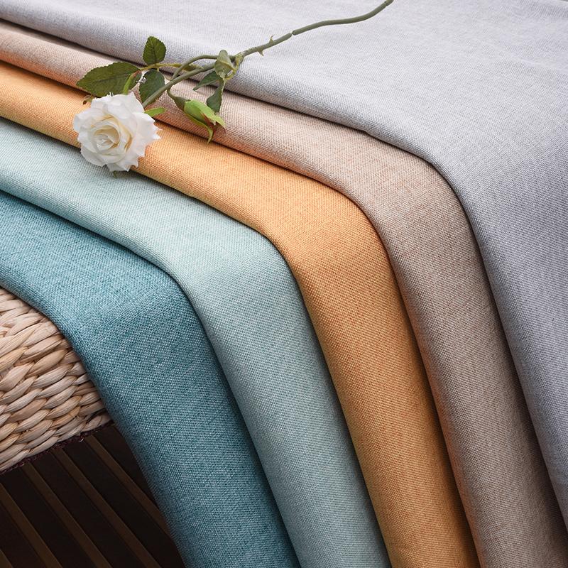 素色沙发布料面料加厚粗亚麻棉麻纯色防尘老粗布麻布桌布手工diy