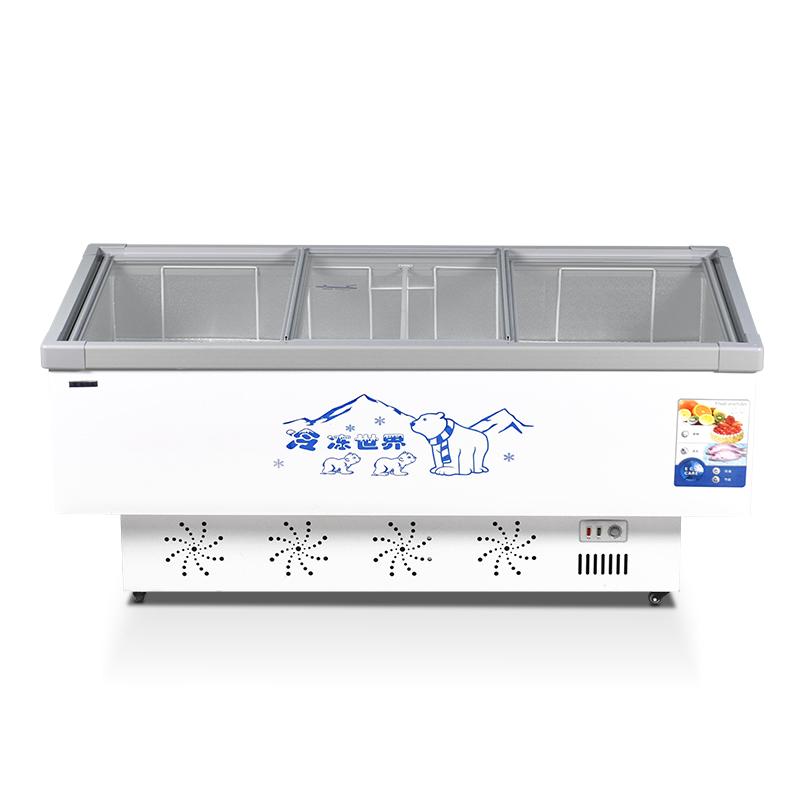 冰柜商用大容量展示柜冷柜岛柜卧式冷藏冷冻柜保鲜雪柜玻璃门冰箱