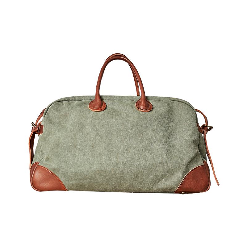 手提包男休闲帆布背包大容量单肩包潮流男包短途旅行包 新品 II 双