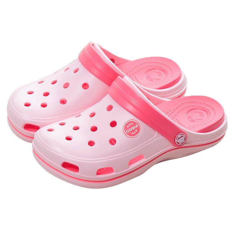 酷趣洞洞鞋儿童凉拖鞋男女童大童亲子夏季宝宝沙滩鞋软底防滑拖鞋